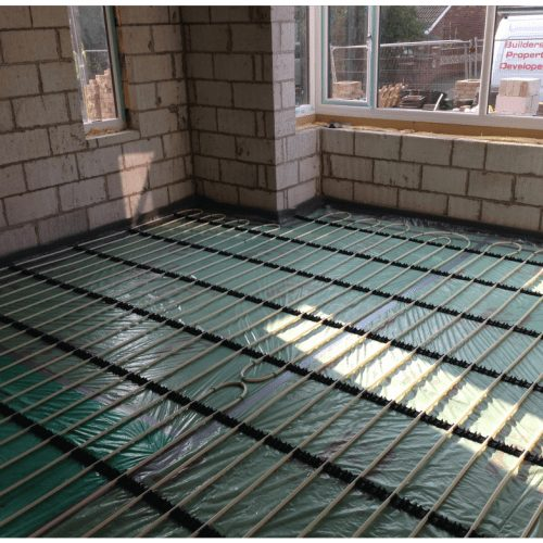 AT Mechanical New Build Plumbing & Heating Services Underfloor Heating
