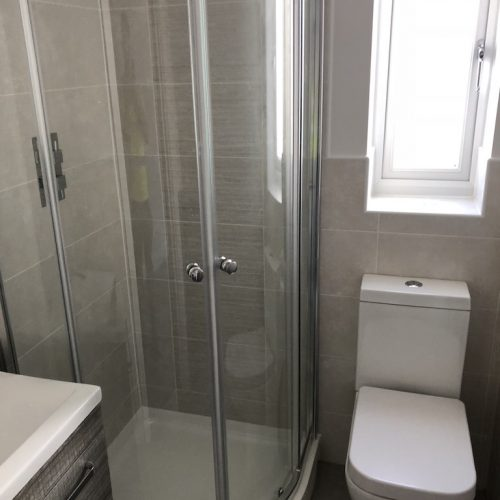 AT Boilers New Build Complete Bathroom Shower Installation