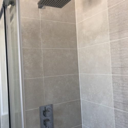 AT Boilers New Build Shower Installation Up Close